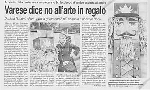 Varese dice no all'arte in regalo